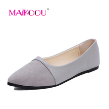 Maikoou Fashion brand flat shoes women 2017 New Arrivals elegant Pointed Toe Slip-On PU leather chaussures femme Dress shoes