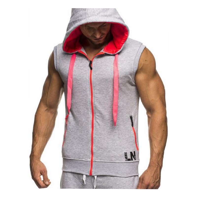 Male Bodybuilding Hoodies Fitness Clothes Hoody Cotton Hoodie Men Sweatshirts Men's Sleeveless Tank Tops Casual Vest 17