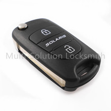 New Remote Flip Folding Key Shell Case 3 Buttons Fit for Hyundai SOLARIS Keyless Entry Fob Cover Car Alarm Housing