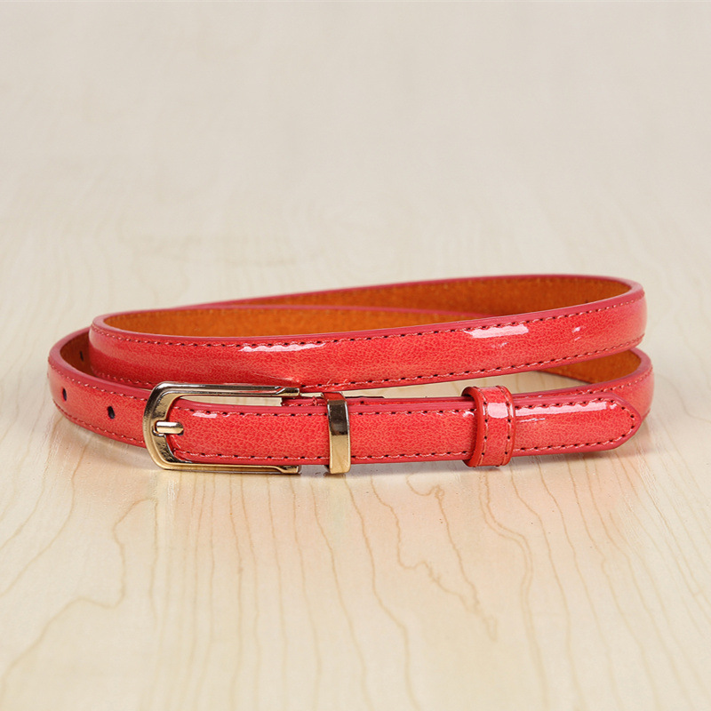 17 New Girls Black White Blue Yellow Brown PU Waist Belt Female Fashion Womens Leather Waistband Belts for Jeans Wholesale 9