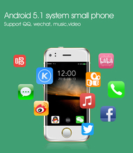 Mini Android Smart Phone SOYES 6S MTK6571 Dual Core 1GB+8GB 2.0MP Dual SIM High Definition Screen Cell Mobile Phone