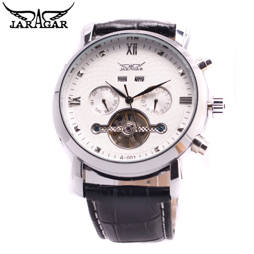 2017 JARAGAR Mens Watches Top Brand Luxury Day/Week/ Month Tourbillon Auto Mechanical Watch Wristwatch Gift Box Free Ship<br>