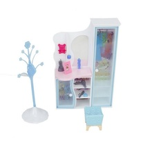 "Doll House Furniture Dressing Room Closet Doll's Play Set for 11 1/2"" Doll---Random Color(China)"
