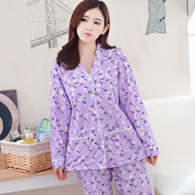 The new women's spring and autumn cotton long-sleeved lace princess pajamas sets tracksuit for women casual plus size M- XXXL(China)