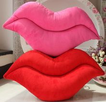 45*25cm creative novelty item funny women big mouse shape cushion pink red lip plush toy throw pillow for couch pregnancy(China)