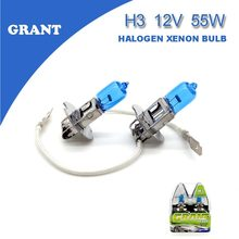 1SET GRANT H3 Halogen Xenon Bulbs 55W 5000K Super White DC 12V Automobiles Head Replacement Lamps Lights Bulbs for Audi a6 a4(China)