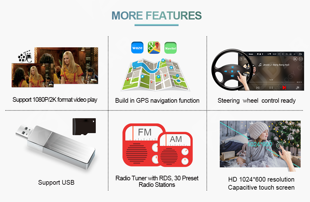 Car Multimedia player Android 7.1.1 GPS 7 Inch