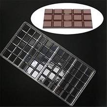 4 Cavity Polycarbonate Chocolate Bar Mold PC Mould Clear Hard Plastic Candy Mold Mould