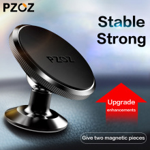 PZOZ Magnetic Mobile Phone Holder 360 Degree GPS Universal Car Phone Holder For iPhone Samsung Magnet Mount Holder Stand(China)