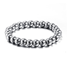 Hot Sale! Bangle plated Titanium Stainless Steel trendy personality simple beads bracelet