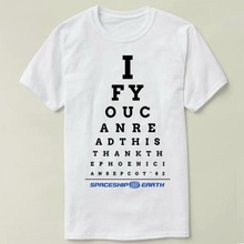 Epcot Eye Chart Mens T-shirt Tops Tees Fitness Hip Hop Men Cotton Tshirts Clothing Super Big Size Zl(China)