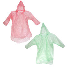 5Pcs Practical Disposable Raincoats Random Color Rain Wear for Outdoor Camping Hiking Travel Emergency Events