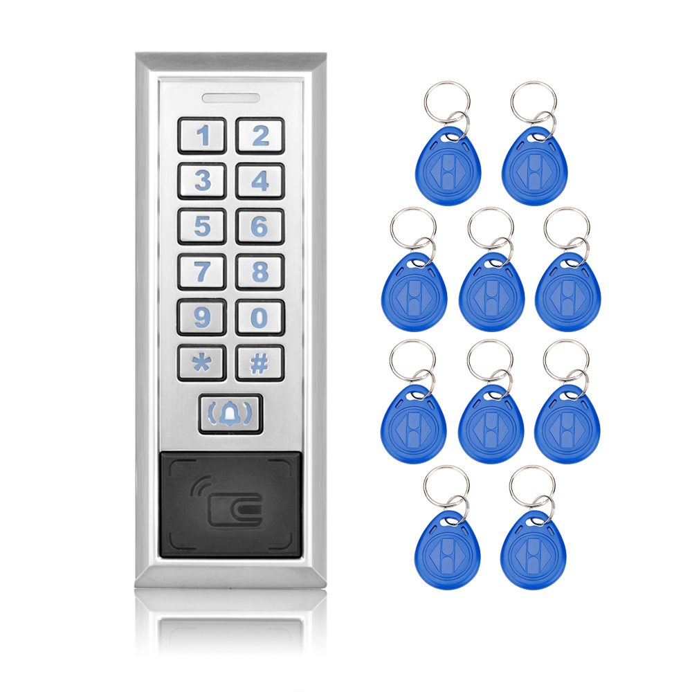 Door Metal RFID Access Control System Locks With WG26/WG34 Input/Output Digital Door Locks with metal keypad+10 rfid keys-K85<br>