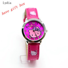 Hello Kitty watches girl KT cat  child watches in box free shipping watch with box