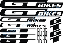 Reflective Road bike wheel frame decal bisiklet aksesuar sticker G&T bikes diy lightning MTB mountain bicycle fork stickers - Sports goods stores store