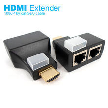 100 Feet 3D 1080P Dual HDMI to RJ45 CAT5e/6 HDMI Extender Repeater By Cat-5e/6 LAN Cable Extension For PS3 STB HDTV HDPC(China)