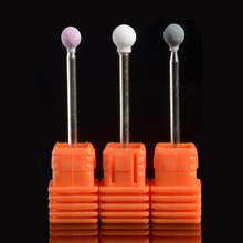Ladymisty 1pcs Ceramic Stone Ball Shape Nail Drill Bits For l Electric Manicure Machines Pedicure Nail Art Salon Polish Tools