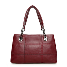 Luxury Women Chains Plaid Handbags High Quality Leather Shoulder Bag Sac a Main Designer Handbag Casual Large Capacity Tote Bag(China)