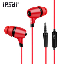 Original Ipsdi EP1301 Red Gift Boxes Hot Style Headset Stereo Bass Earphones With Microphone In-Ear For Phone Mp3 Player PC.(China)
