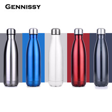 GENNISSY 350ML/500ML/700ML Keep Cold Cup Stainless Steel Heat Preservation Pot Fashion Vacuum Thermos Bottle Household Bottle