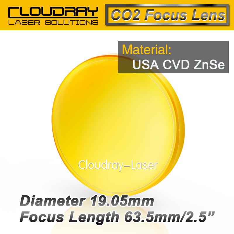 USA CVD ZnSe Focus Lens Dia. 19.05mm FL 63.5mm 2.5 for CO2 Laser Engraving Cutting Machine Free Shipping<br><br>Aliexpress
