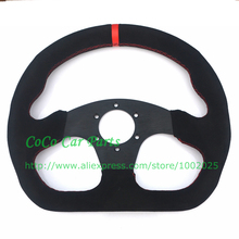 LYJ Motorsport Racing Car Steering Wheel 13 inch Flat Model Suede Steering Wheel 325mm Universal Racing Steering Wheel(China)