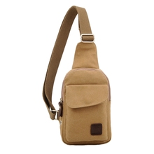 Vintage Men Canvas Satchel Casual Cross Body Handbag Messenger Shoulder Bag Khaki(China)