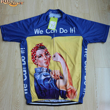 RIDE POINT We Can Do It Women Pro Cycling Jerseys Summer Short Sleeve Mtb Bike Clothes Women Cycling Clothings Ciclismo 4 Colors