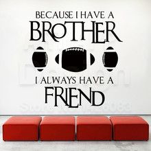 Art design cheap vinyl home decoration Rugby friends wall sticker removable house decor American soccer sports decals in rooms