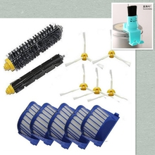 Hepa Filter + Flexible Beater Bristle Brush + side brush kit for iRobot Roomba 600 601 620 630 650 660 670 680 replacement parts(China)