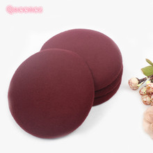 Ladies Round Fedora Hat Base DIY Velvet Plush Sinamay Hair Fascinator Base 15.5CM For Hairpin Headband DIY Party Women Headdress