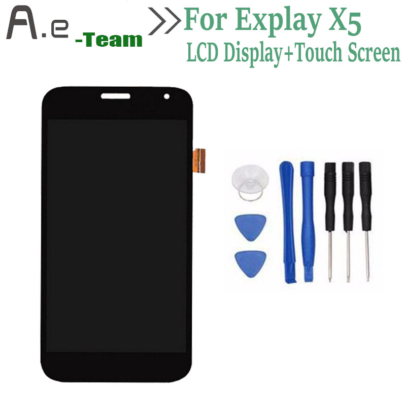 High Quality For Explay X5 LCD Display+Touch Screen Digitizer Replacement For Explay X5 5.0 Smartphone + Free Tools<br><br>Aliexpress