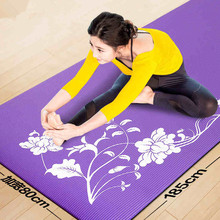 185cm*80cm*10mm NBR Yoga Mats Fitness Tasteless Exercise Mat Cushion Nonslip Print Yoga Mat Thick China Shop Online Stores(China)