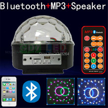 Bluetooth MP3 music speaker+Remote control LED stage light magic ball with USB  color music home/wine bar/disco party