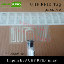 UHF RFID tag Impinj E53 dry inlay 915mhz 900mhz 868mhz 860-960MHZ  EPCC1G2 ISO18000-6C smart card passive RFID tags label