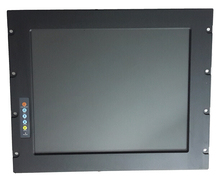 19 inch Industrial LCD Monitor, 9U rack mount lcd monitor, for HMI display, provide custom deisgn services(China)