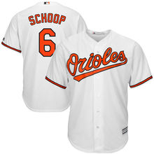 MLB Men's Baltimore Orioles Jonathan Schoop Baseball White Cool Base Home Player Jersey(China)