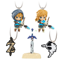 Japanese original Capsule toys The Legend of Zelda: Breath of the Wild 5 sets link Master Sword gashapon figures pendant