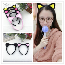 2017 Cute Headwear Heart Cat Ears Character Headbands for Women Party Adult Hello Kitty Accessories Hair bands