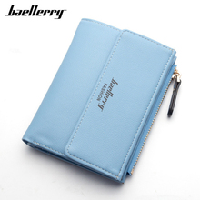 High Quality PU Leather Wallets Women Lovely Letter Priting Zipper & Clasp Coin Pocket Short Purse Clutch Small Wallet Female(China)