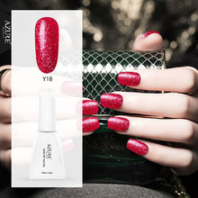Azure Beauty 12ML Hot Sale Color Gel Polish Red Color Glitter UV Nail gel Polish Soak Off Gel Lacquer Long Lasting Nail Enamel(China)