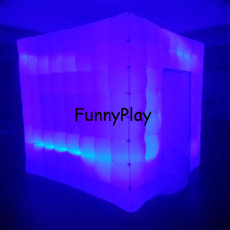 LED lighted inflatable photo booth16