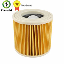 TOP quality replacement air dust filters bags for Karcher Vacuum Cleaners parts Cartridge HEPA Filter WD2250 WD3.200 MV2 MV3 WD3(China)