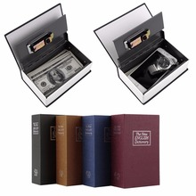 LESHP Modern Simulation Dictionary Secret Book Hidden Security Safety Lock Cash Money Jewelry Cabinet Size Book Case Storage Box(China)