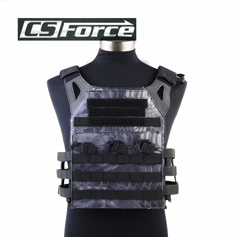Airsoft JPC Tactical Vest 1000D Molle Simplified Version Military Chest Protective Plate Carrier Vest Black Army Camo<br>