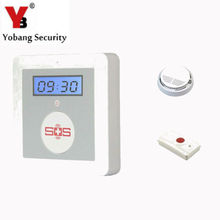 YobangSecurity IOS Android APP K4 GSM Emergency Alarm Personal Medical Alarms with Wireless Smoke Fire Detector Panic Button
