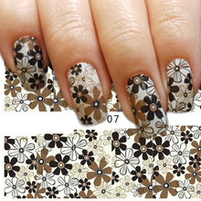 1pcs  Fashion Hot Full Flower Sticker Water Transfer Decals Decorations Women Designs Beauty Tools TRST-07