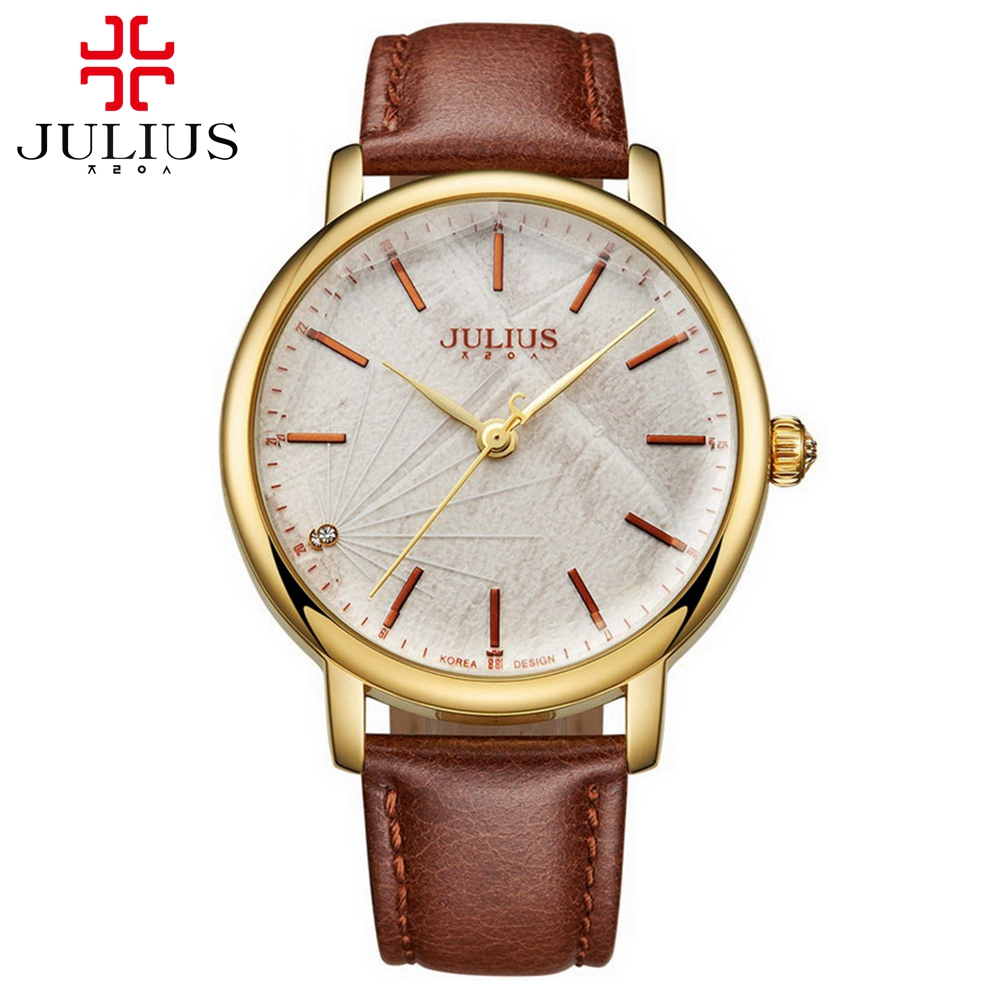 New men business fashion casual quartz big simple classic watch Male leather good quality sports watches Luxury brand Julius 888<br><br>Aliexpress