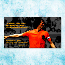 Johan Cruyff Football Legend Art Silk Canbvas Poster 13x24 inch Netherlands Soccer Star Pictures for Room Decor(more)-3(China)