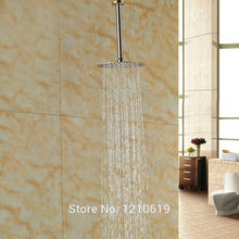 "Newly Ceiling Mounted Ultrathin Top Spray Head Nickel Brushed 8"" Rain Shower Head w/ Shower Arm(China)"